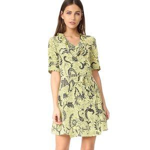 DVF Furstenberg Silk Wrap Savilla Dress Yellow 2
